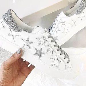 Dof Silver Stella Star Sneakers   Poshmark